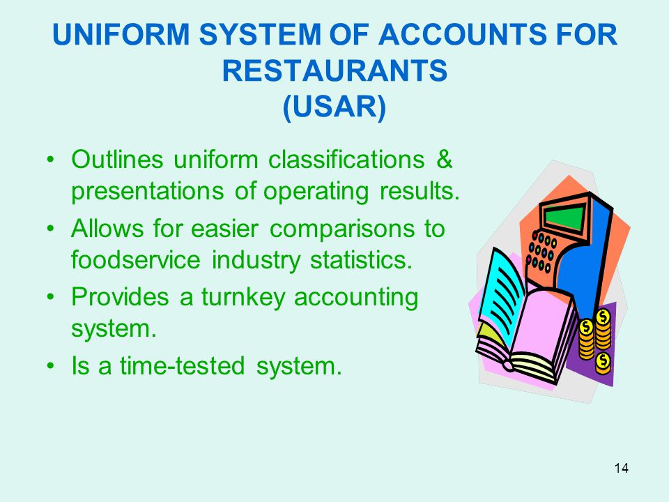 UNIFORM SYSTEM OF ACCOUNTS FOR RESTAURANTS (USAR)