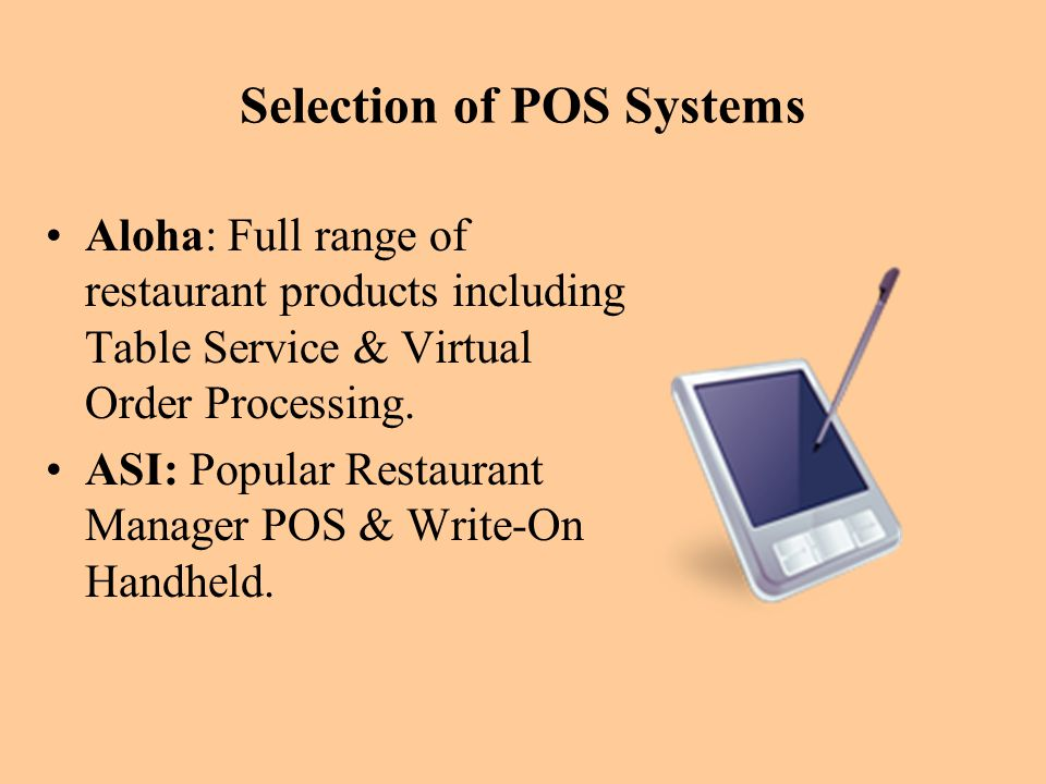 Selection of POS Systems