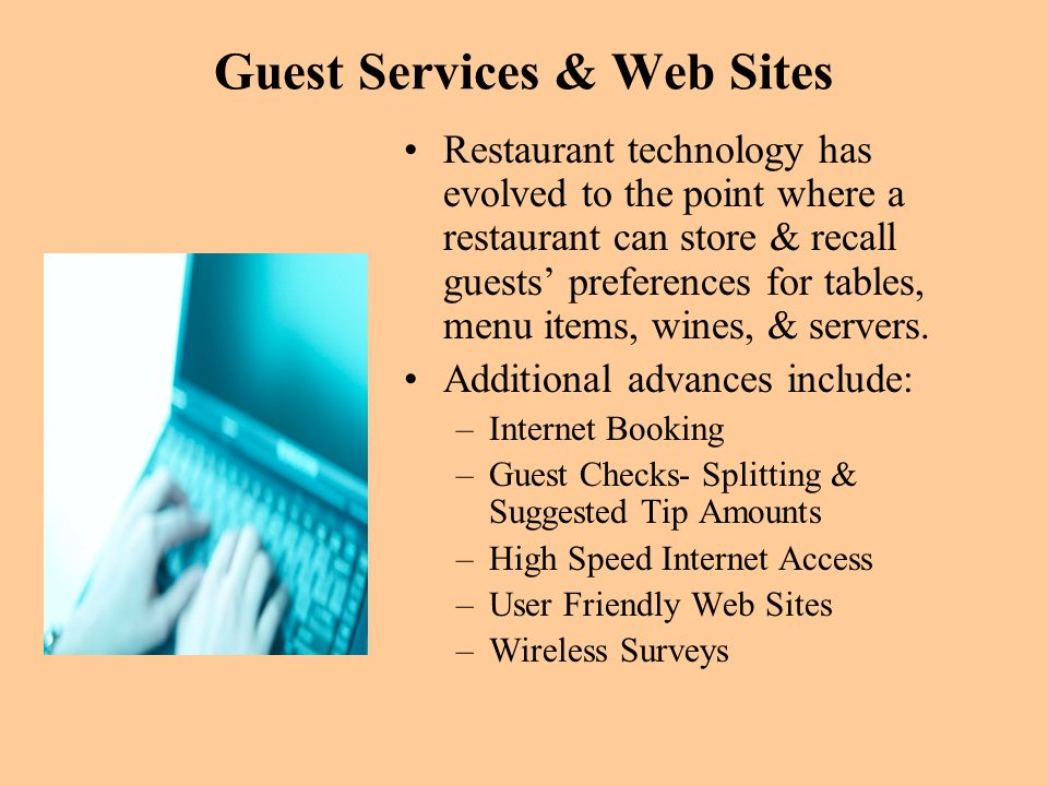 Guest Services & Web Sites