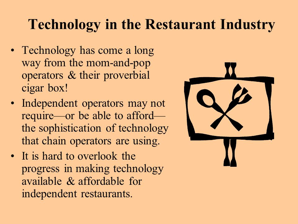 Technology in the Restaurant Industry