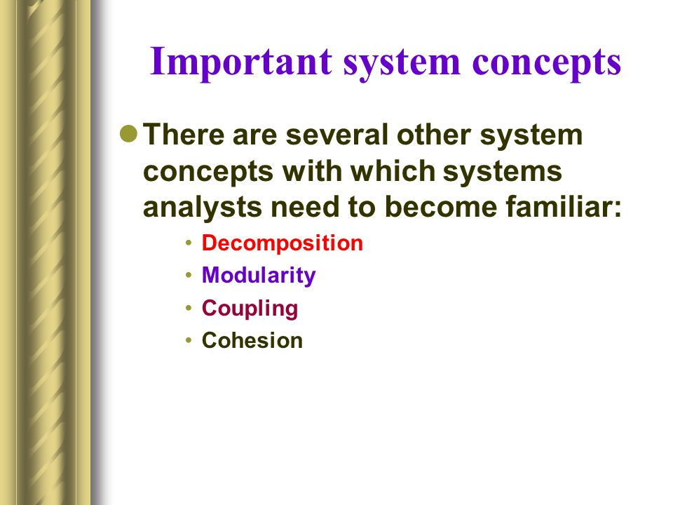 Important system concepts
