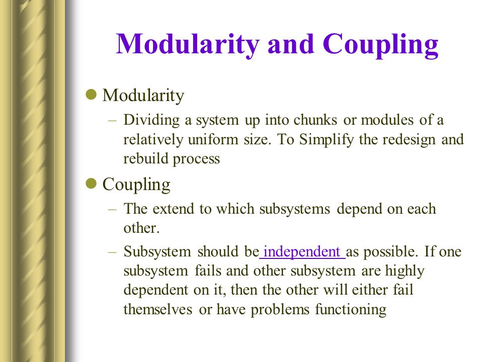 Modularity and Coupling