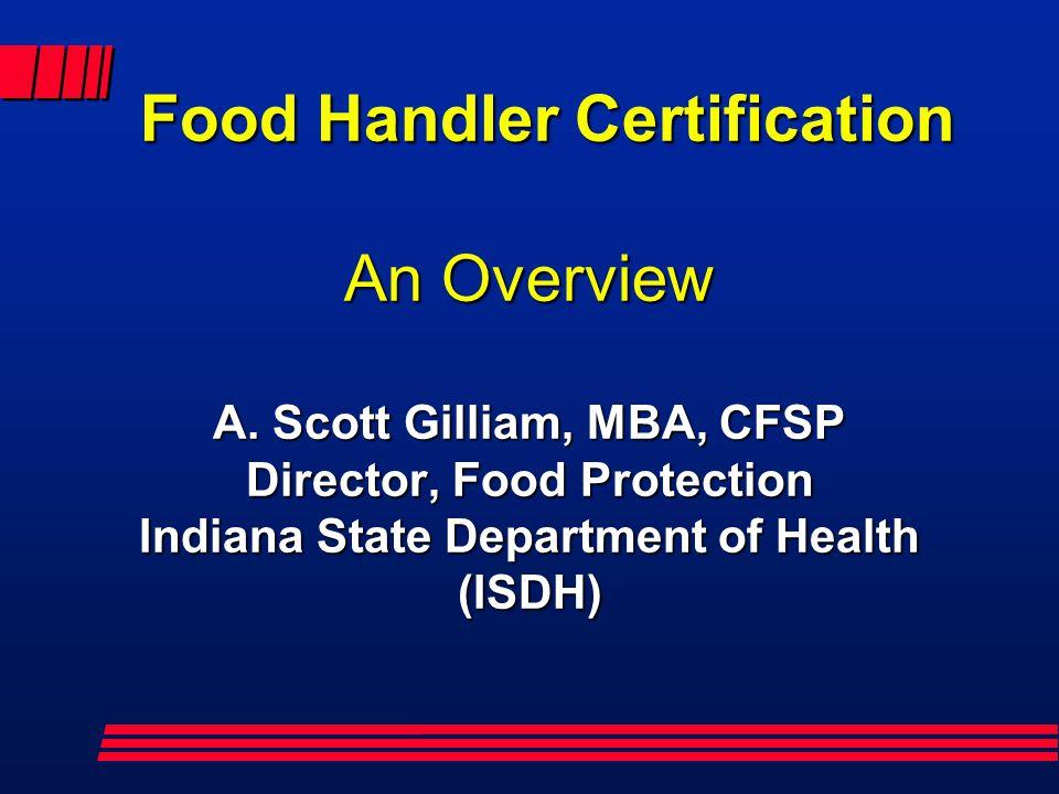 Food Handler Certification An Overview A