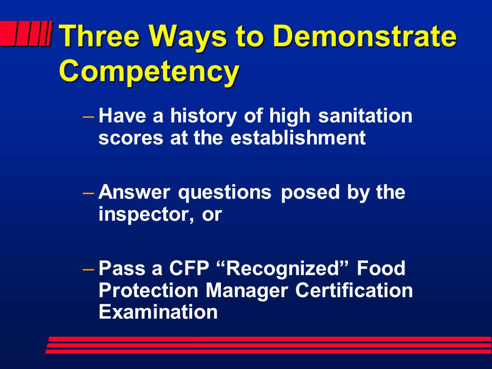 Three Ways to Demonstrate Competency