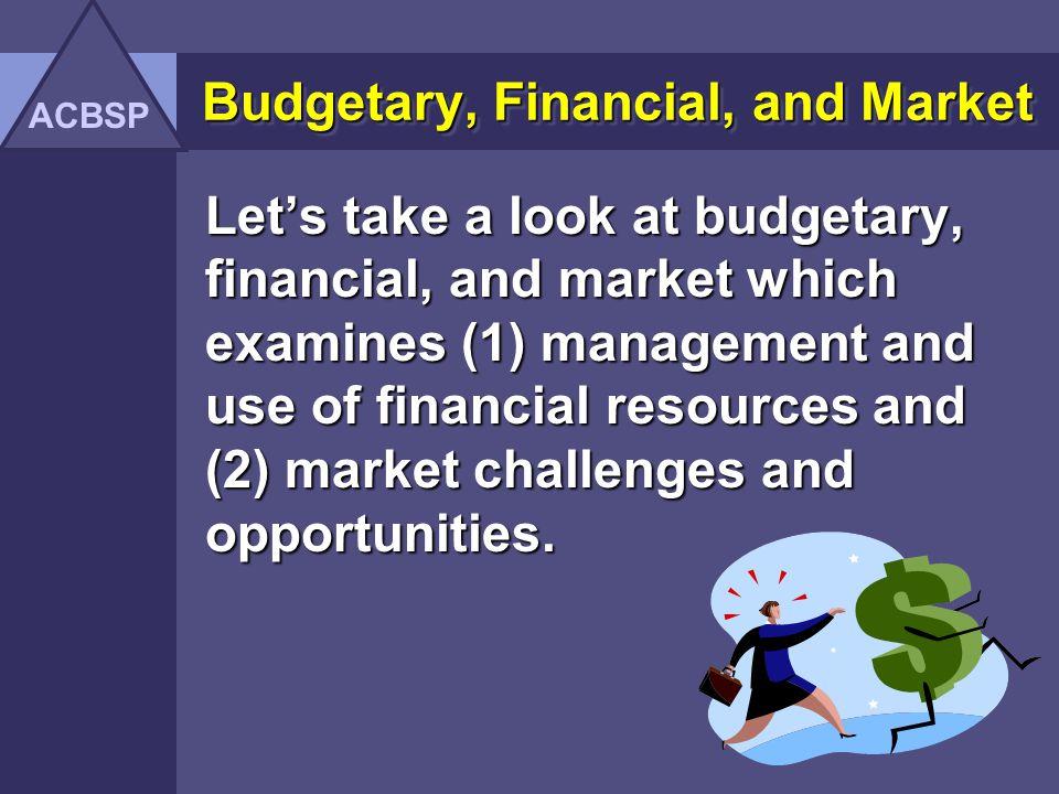 Budgetary, Financial, and Market