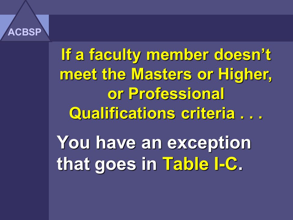 You have an exception that goes in Table I-C.