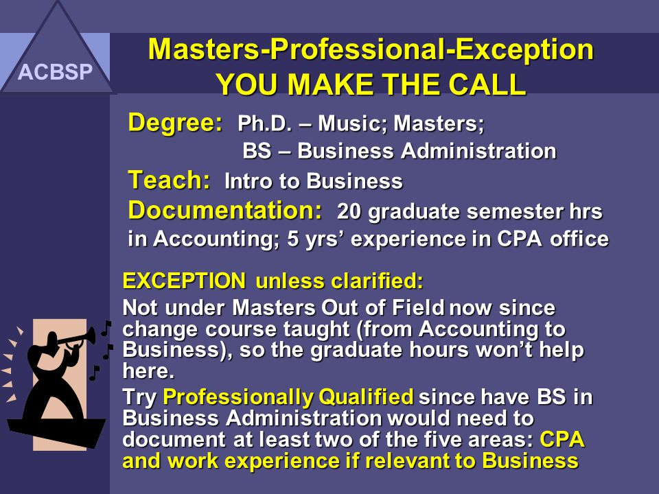 Masters-Professional-Exception YOU MAKE THE CALL