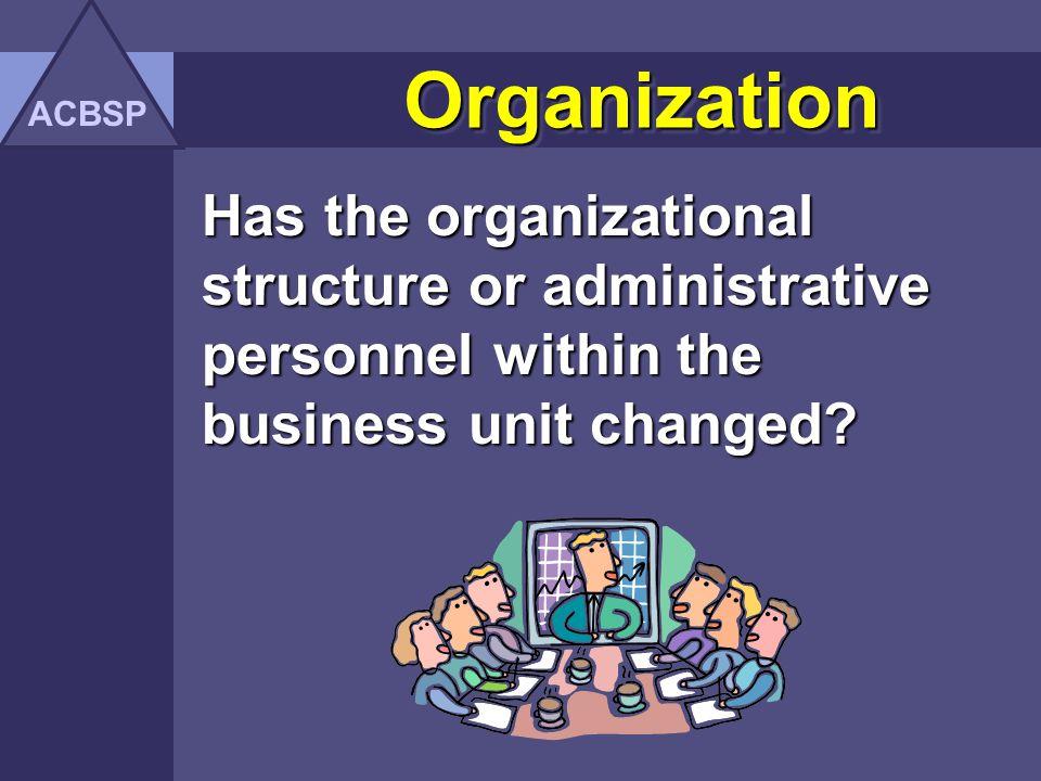 ACBSP Organization.