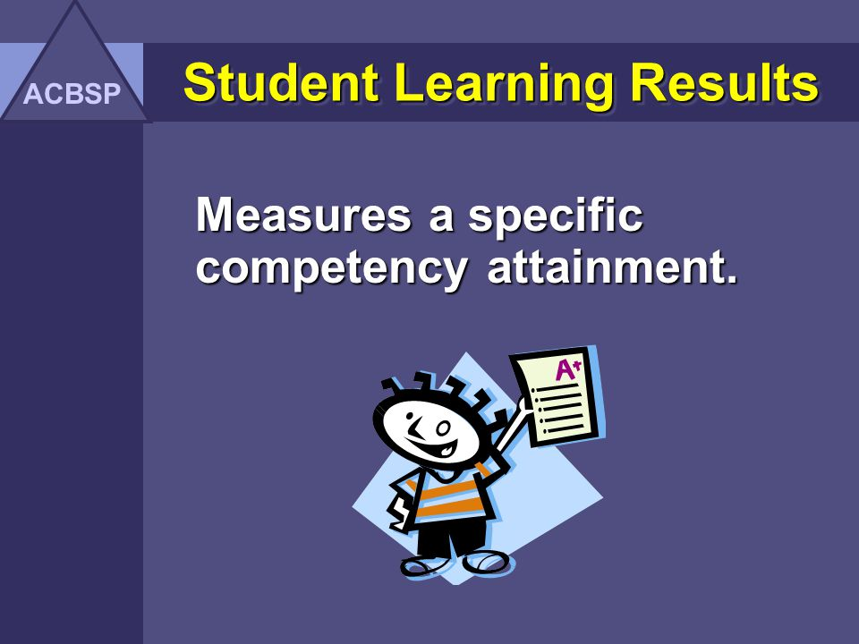 Student Learning Results