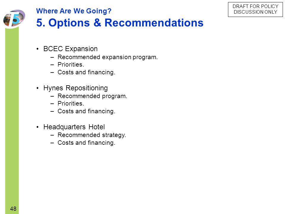 5. Options & Recommendations