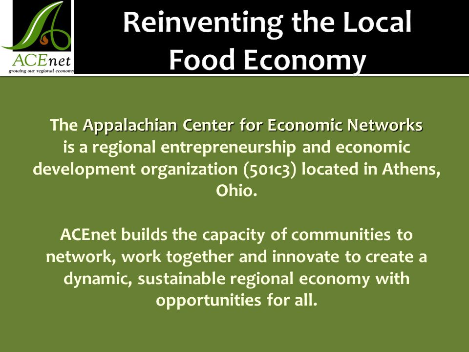 Reinventing the Local Food Economy