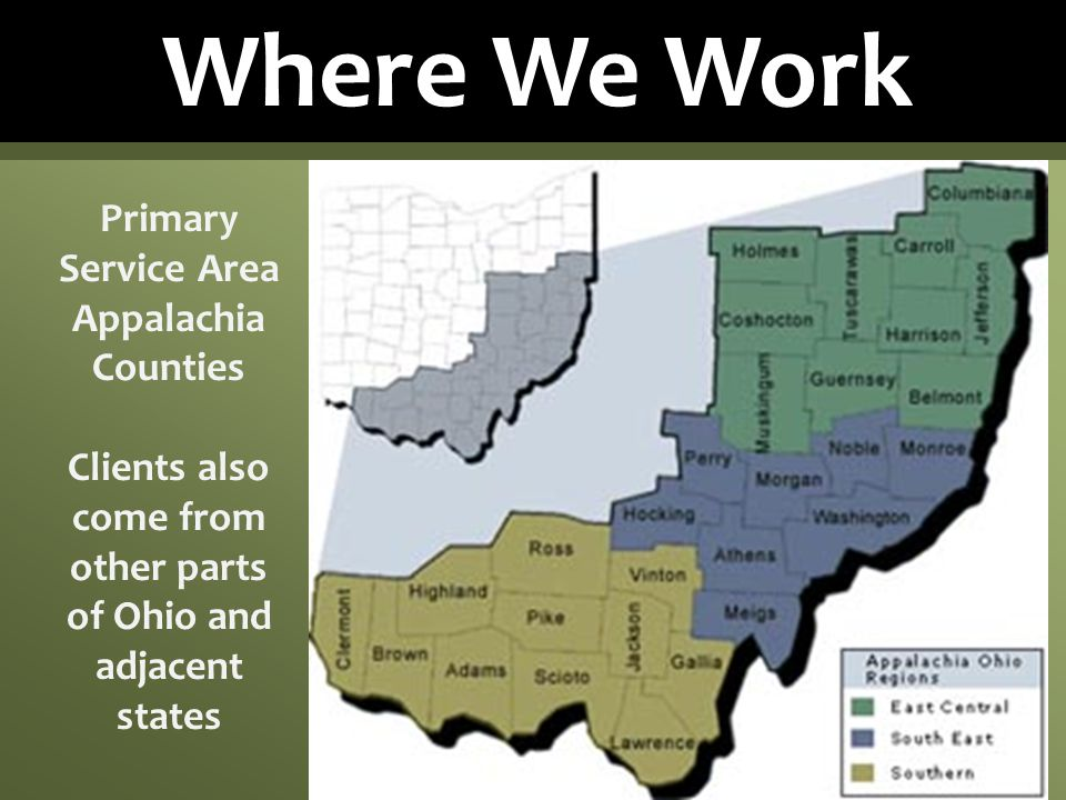 Clients also come from other parts of Ohio and adjacent states