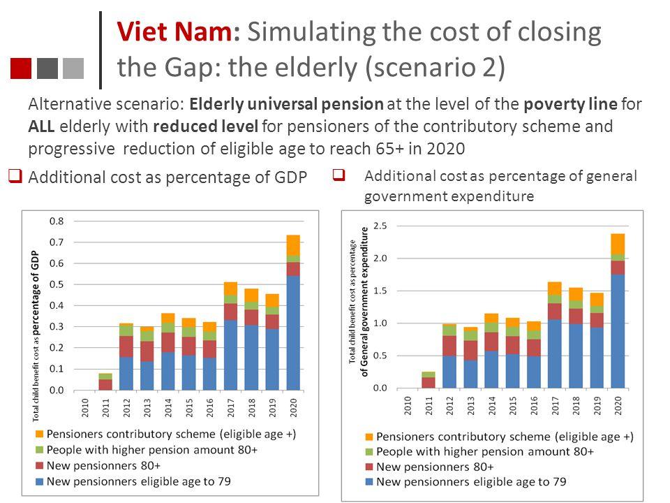Viet Nam: Simulating the cost of closing the Gap: the elderly (scenario 2)