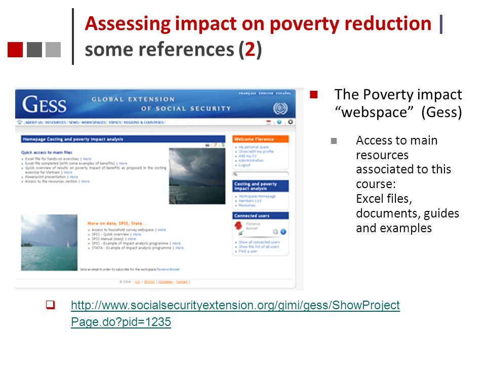 Assessing impact on poverty reduction | some references (2)