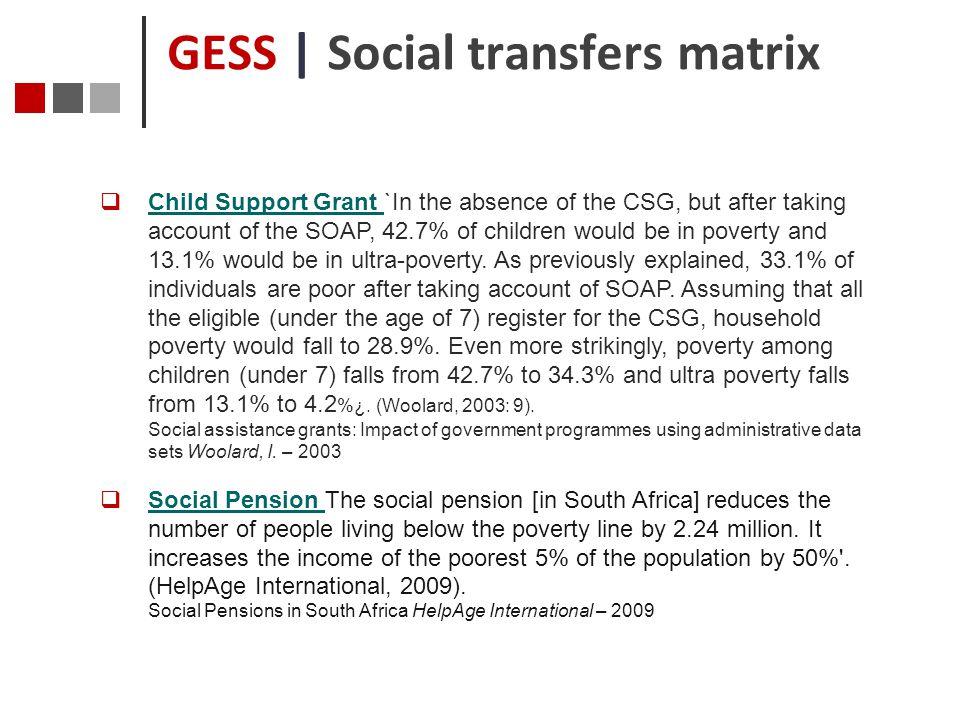 GESS | Social transfers matrix