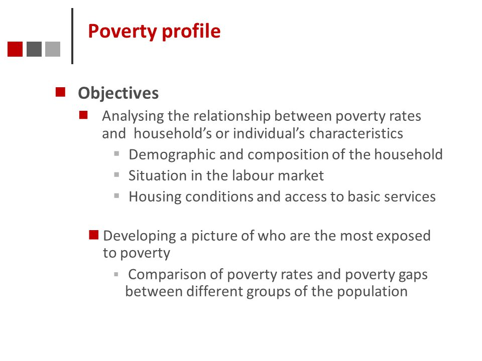 Poverty profile Objectives