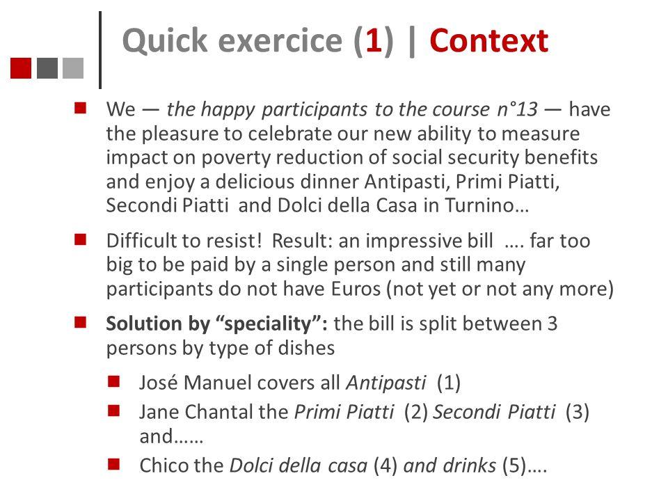Quick exercice (1) | Context