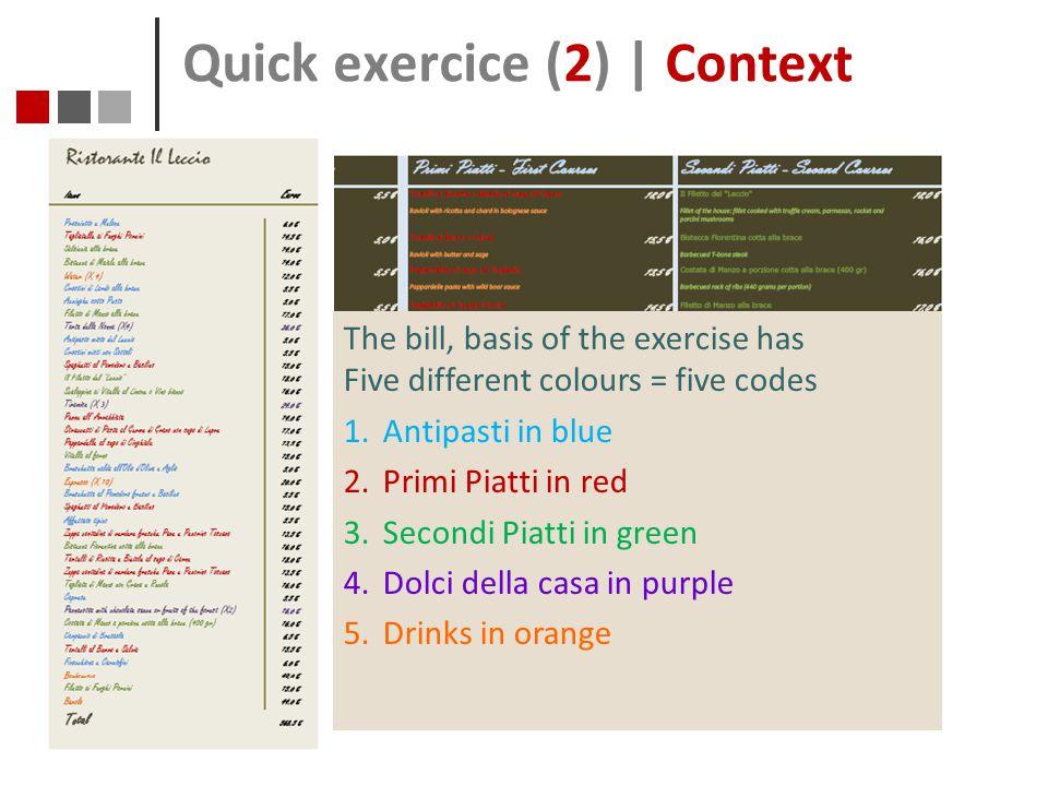 Quick exercice (2) | Context