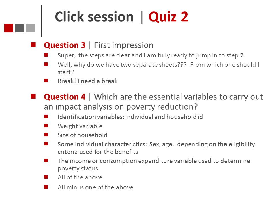 Click session | Quiz 2 Question 3 | First impression