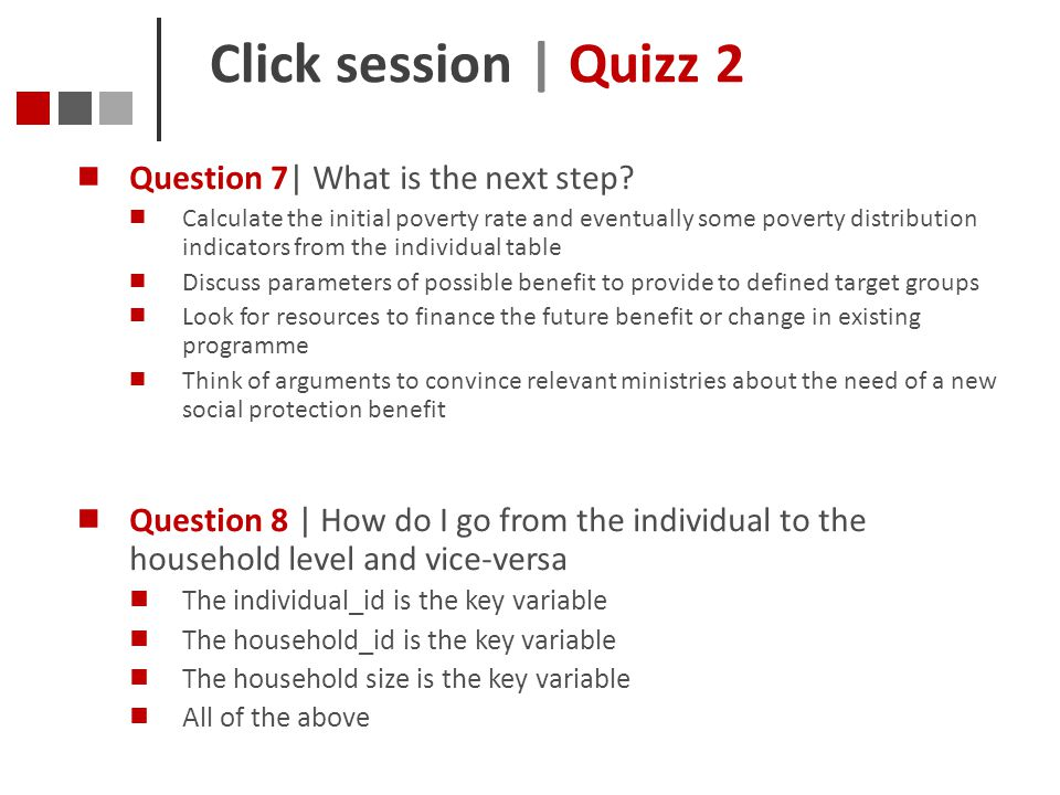 Click session | Quizz 2 Question 7| What is the next step