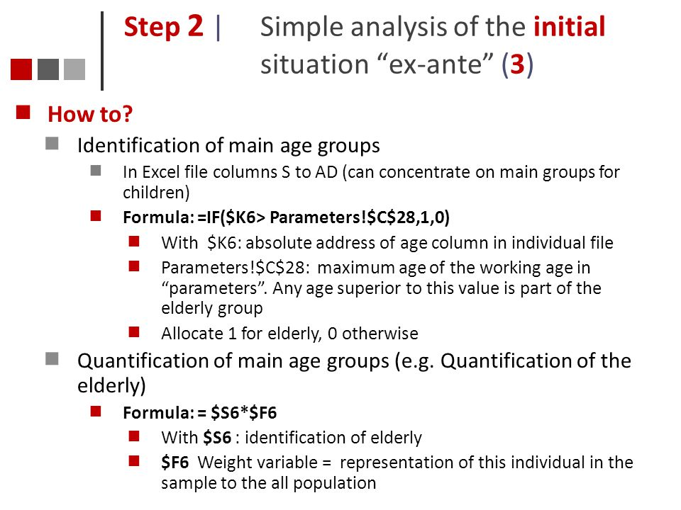 Step 2 | Simple analysis of the initial situation ex-ante (3)