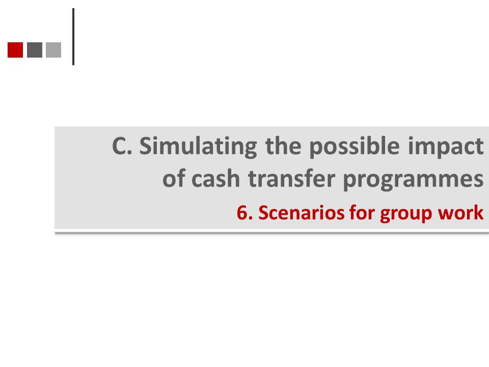 C. Simulating the possible impact of cash transfer programmes