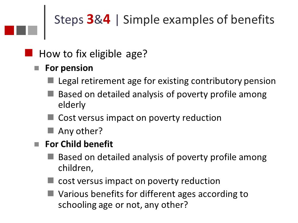Steps 3&4 | Simple examples of benefits