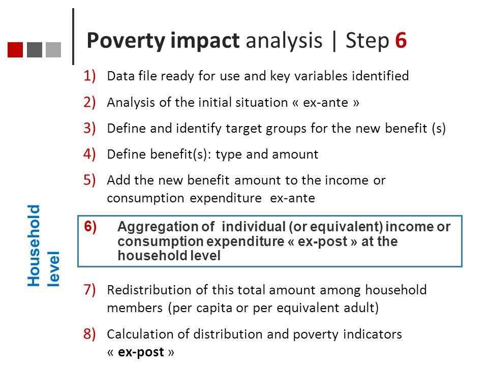 Poverty impact analysis | Step 6