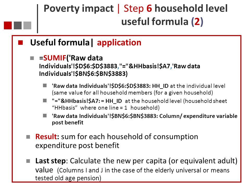 Poverty impact | Step 6 household level useful formula (2)