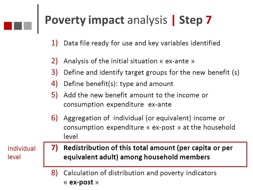 Poverty impact analysis | Step 7