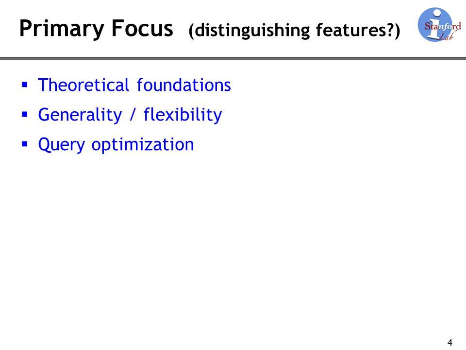 Primary Focus (distinguishing features )