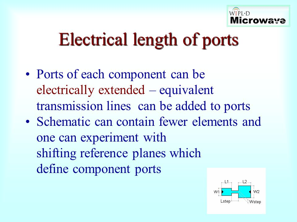 Electrical length of ports