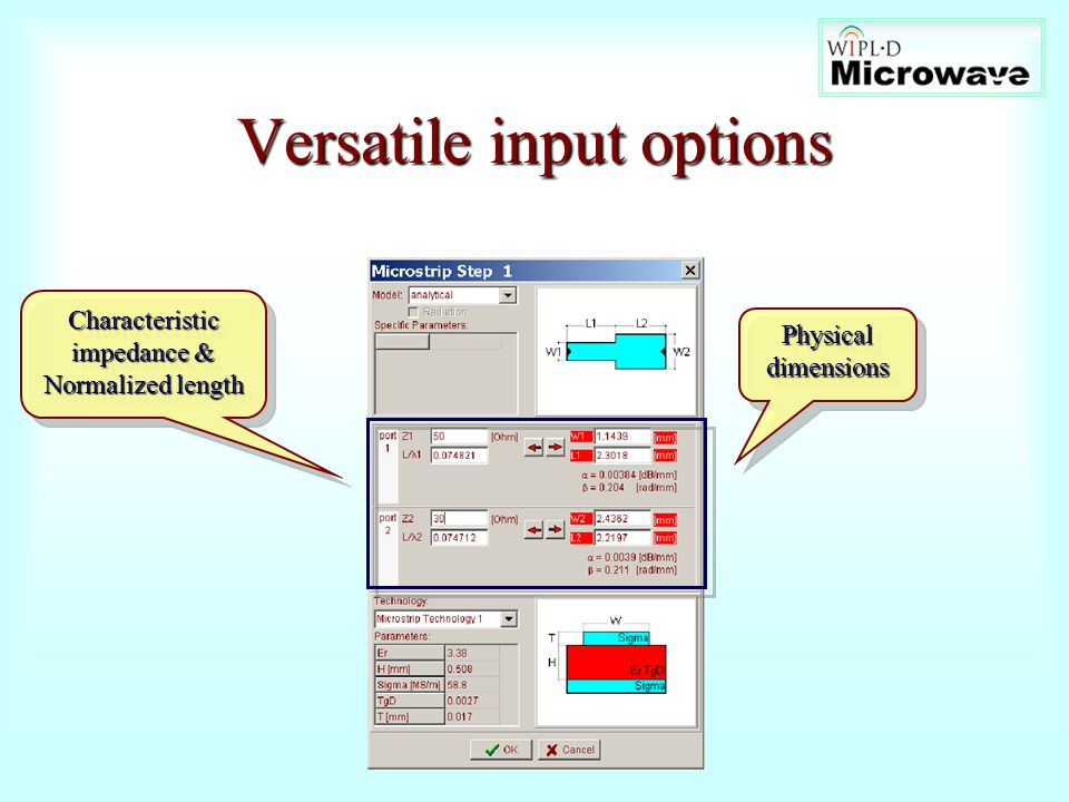 Versatile input options