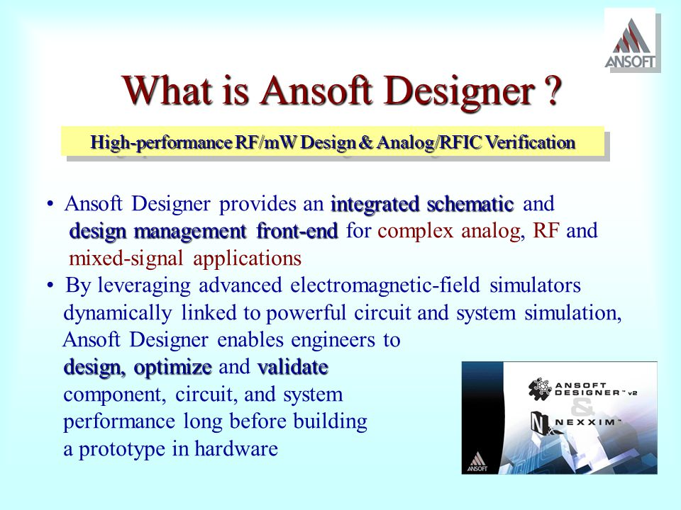 What is Ansoft Designer