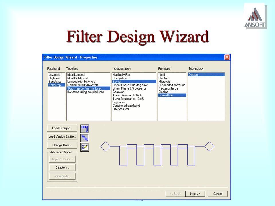 Filter Design Wizard
