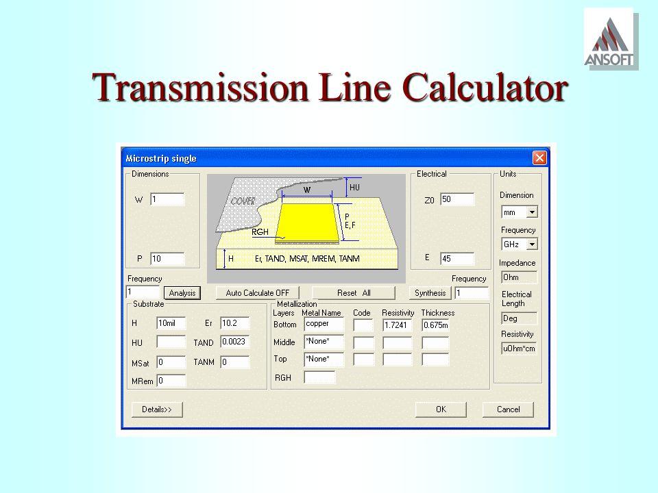 Transmission Line Calculator