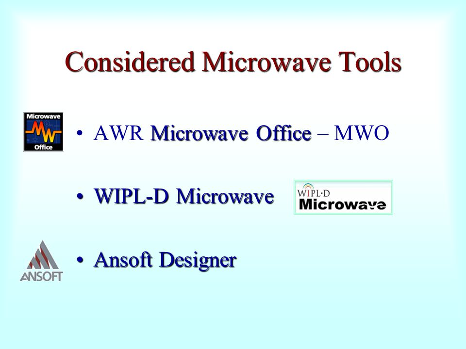 Considered Microwave Tools
