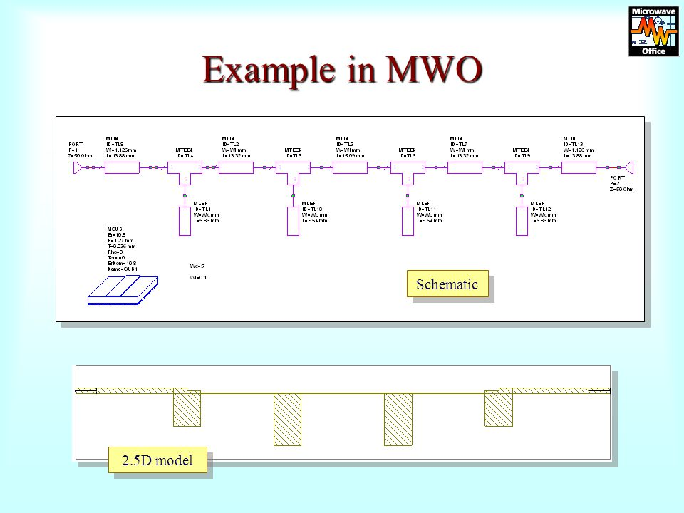 Example in MWO Schematic 2.5D model