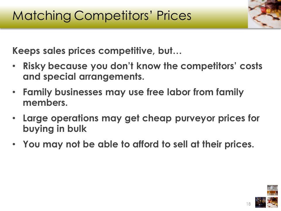 Matching Competitors' Prices