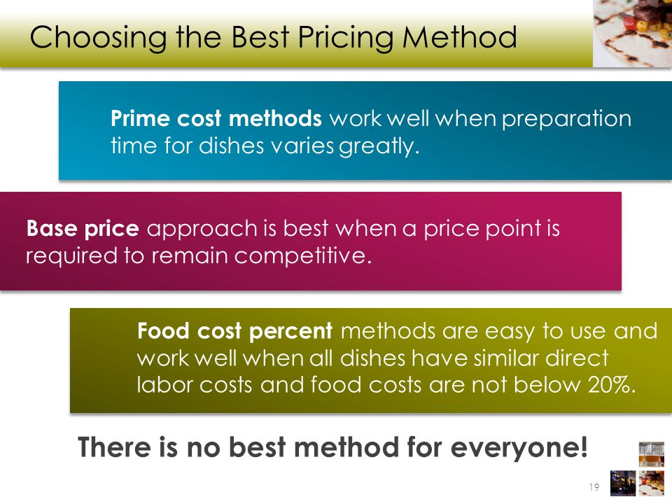 Choosing the Best Pricing Method