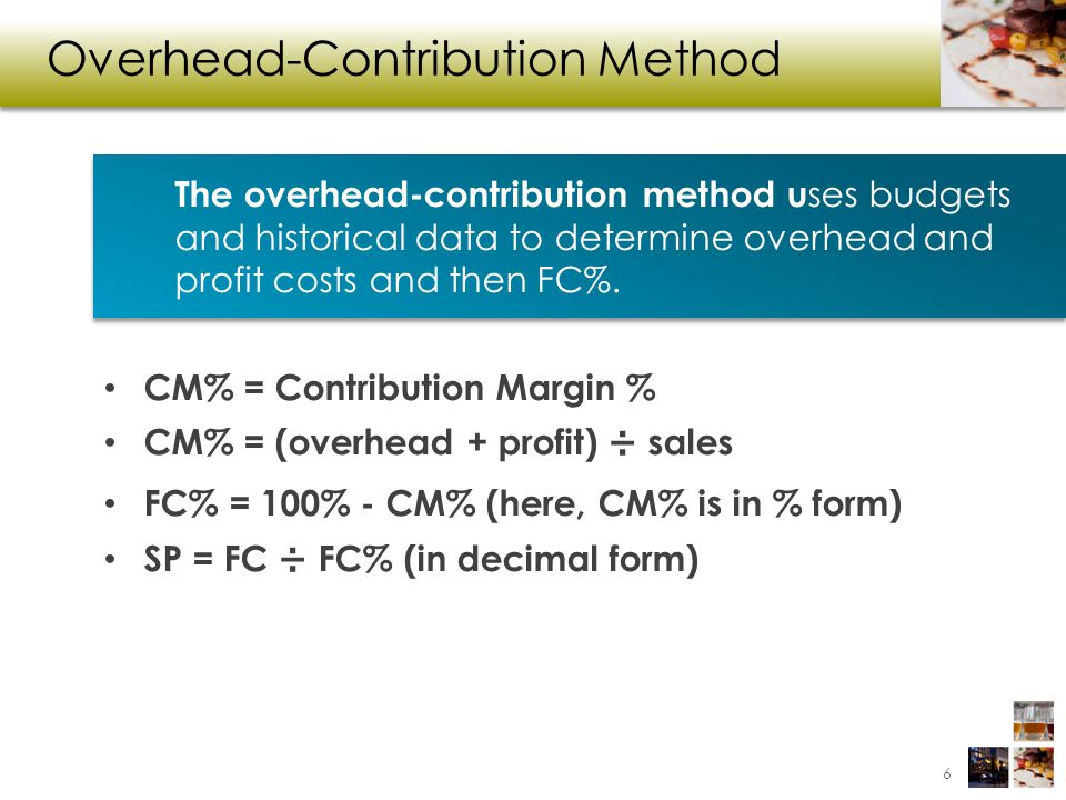 Overhead-Contribution Method