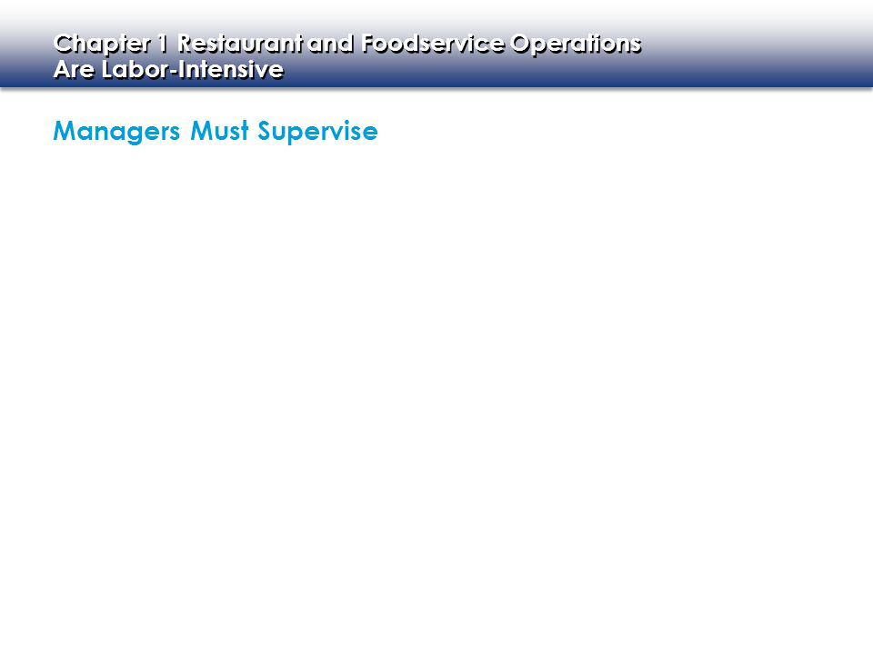 Managers Must Supervise