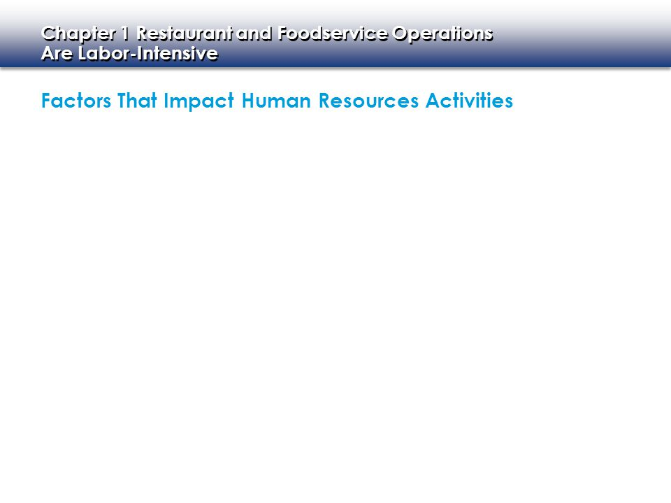 Factors That Impact Human Resources Activities