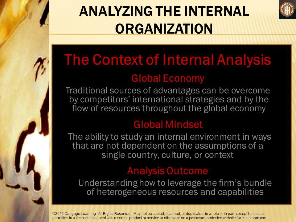 ANALYZING THE INTERNAL ORGANIZATION The Context of Internal Analysis