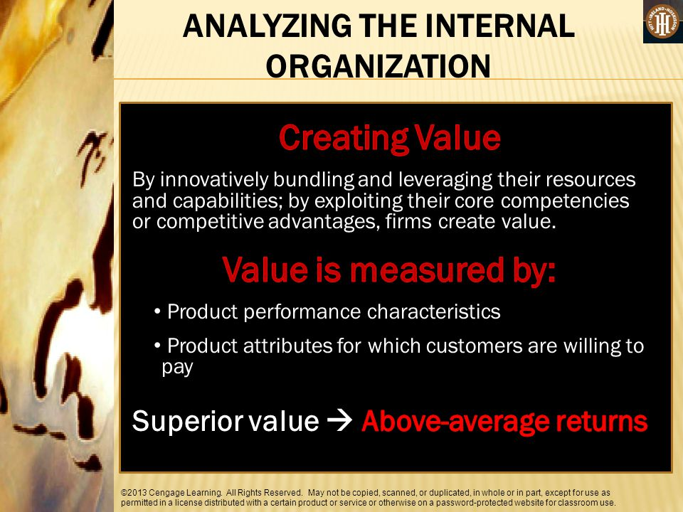 Creating Value Value is measured by: