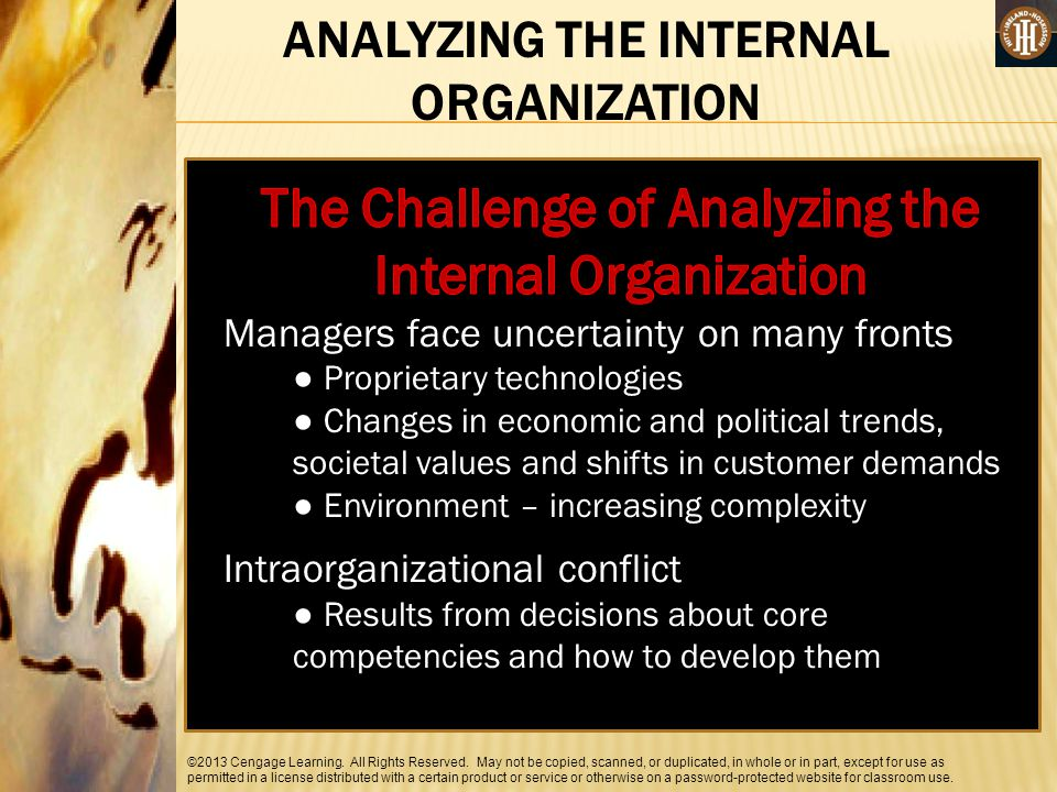 The Challenge of Analyzing the Internal Organization