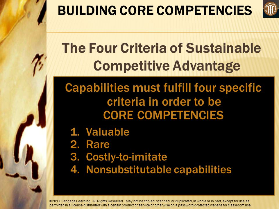 The Four Criteria of Sustainable Competitive Advantage