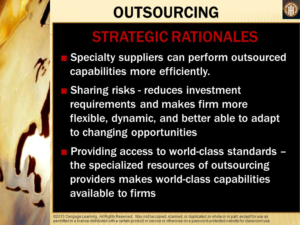 OUTSOURCING STRATEGIC RATIONALES