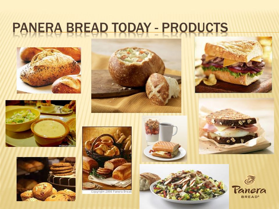 Panera bread today - products