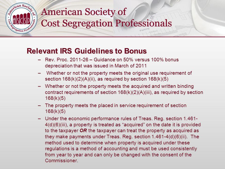 Relevant IRS Guidelines to Bonus